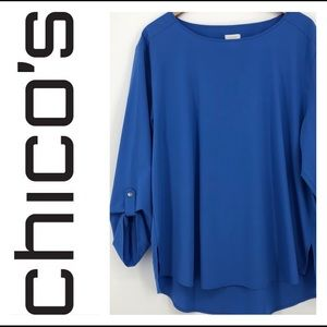 Tops - ☀️ Chico's blue blouse